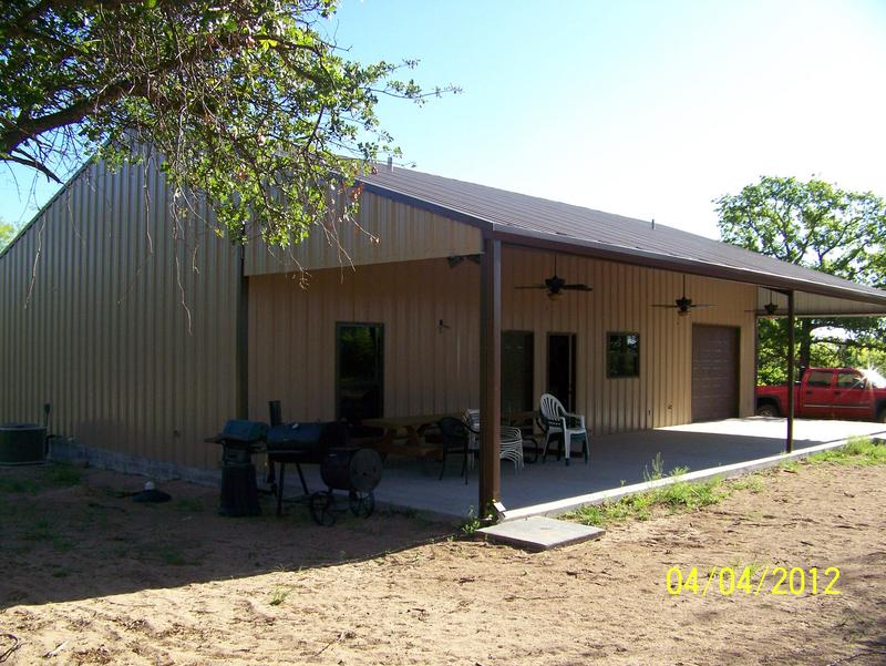 Hunting cabins for Metal building cabin